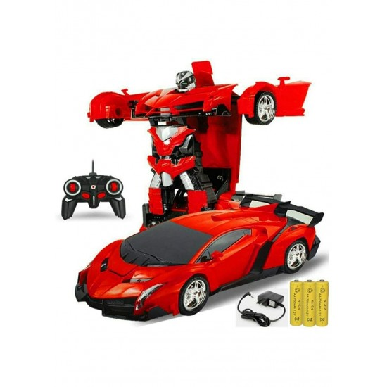 Deformation car Remote Control converting car to Robot,Transformer Toy || chargableremote Control Deformation car for Kids- - Color as per Availability
