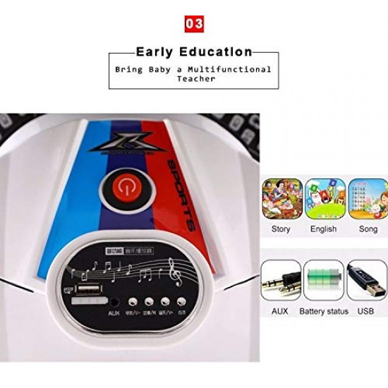BuyFacturer 2 Volt Battery Operated Roadstar Ride On Bike for Kids (2 - 8 Years) with Tyre Lighting System  (White)