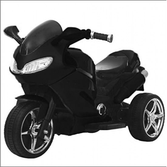 BuyFacturer 3-Wheel Kid Electric Bike with Rechargeable Battery Operated Ride-on for Kids for 2 to 6 Years (Black)