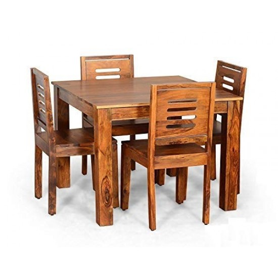 Torque - Aries 4 Seater Dining Set for Living Room (Honey Finish)