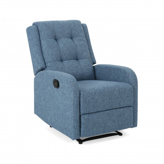 Torque - Adrano Blue Upholstered  Fabric Recliner