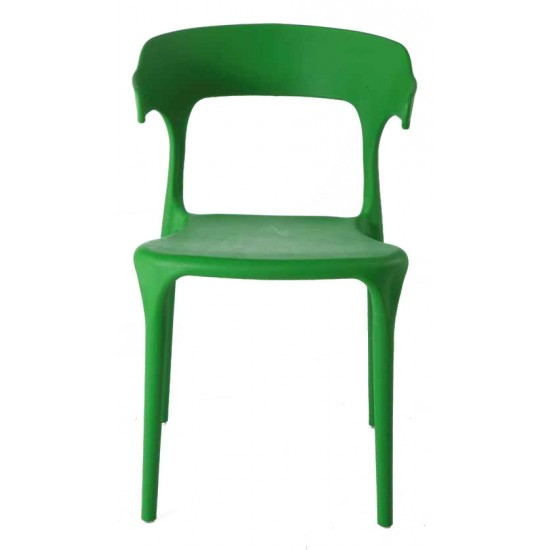 Torque - Leo Modern Creative Casual Seating Chair For Cafeteria (GREEN - BLISS)