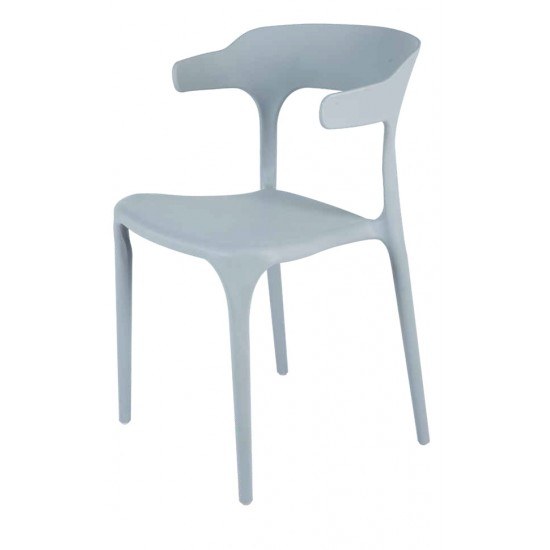 Torque - Leo Modern Creative Casual Seating Chair For Cafeteria (GREY - BLISS)