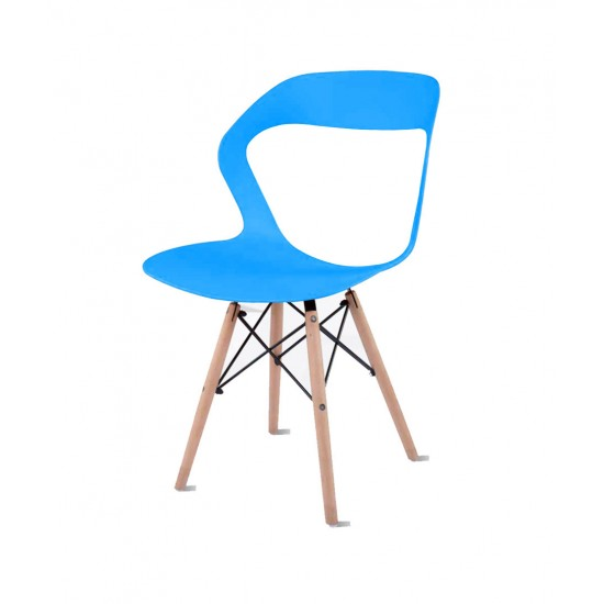 Torque - Aaron Modern Creative Chair With 2 Types Stand Variants For Cafeteria ( BLUE - OLIVE)