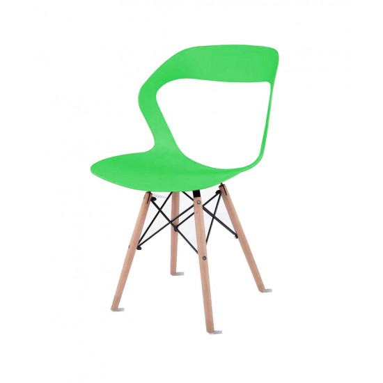 Torque - Aaron Modern Creative Chair With 2 Types Stand Variants For Cafeteria ( GREEN - OLIVE-1)