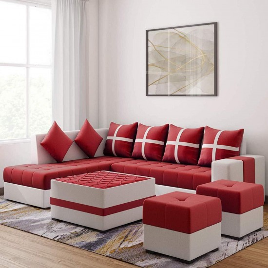 Torque - Jamestown Fabric Coffee Table/Centre Table/Tea Table for Living Room |Red