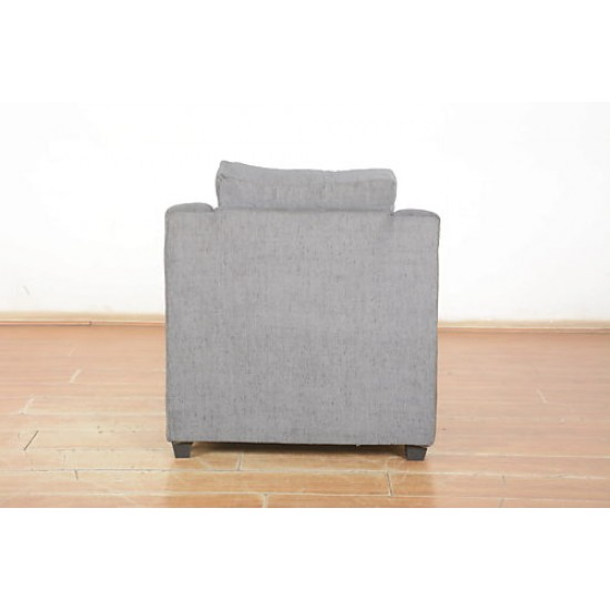 Torque - Angie Fabric 5 Seater 3+1+1 Sofa Set for Living Room (Grey)