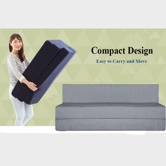 BuyFacturer Sofa Cum Bed 3x6 One Seater Sleeps & Comfortably Perfect for Guests Grey Color