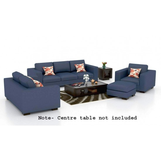 BuyFacturer Mendoza Sofa Set for Living Room & Dining Hall (3+2+1 )Standard Size ( Fabric - Blue)