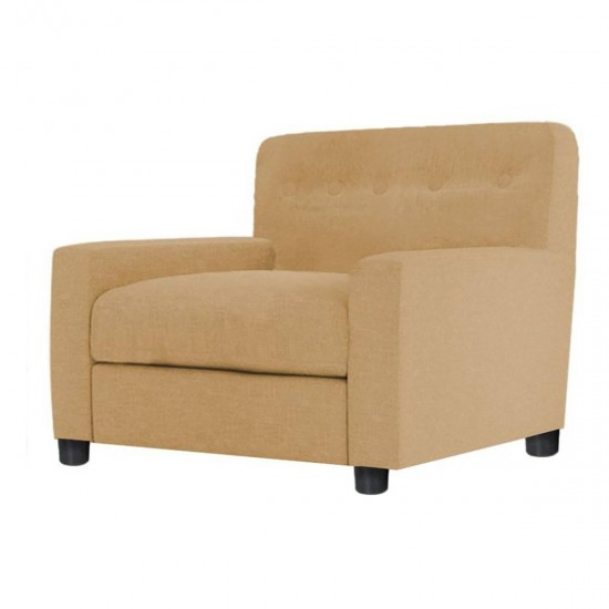 Torque - Walton Fabric Single Seater Sofa for Living Room (Cream)
