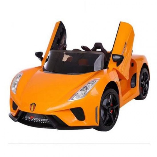 BuyFacturer Ferrari Battery Operated Ride On Car for Kids.That is Suitable for Boys & Girls(Orange)
