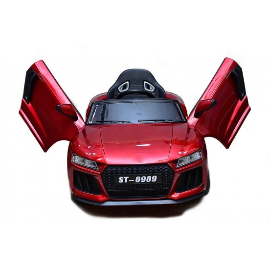 BuyFacturer Battery-Operated Kids Electric Car Remote Controlled and Self-Drive Car for Kids with USB Music Player; 30 Kg Weight Capacity , Smoke Exhaust (Wine Red)